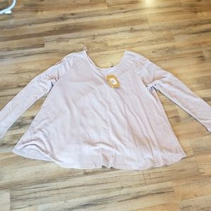 NWT Andree by Unit 1XL Ruffle Lace Back Blouse
